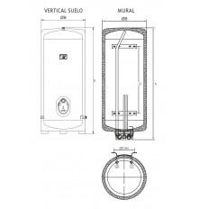 Termo eléctrico inox E-80