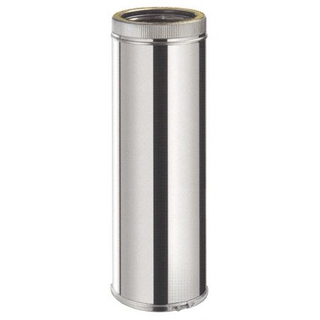Tubo 1 mt. Inox/Inox Doble Pared