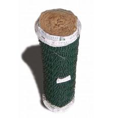 Enrejado simple torsión 17x50 plastif. verde