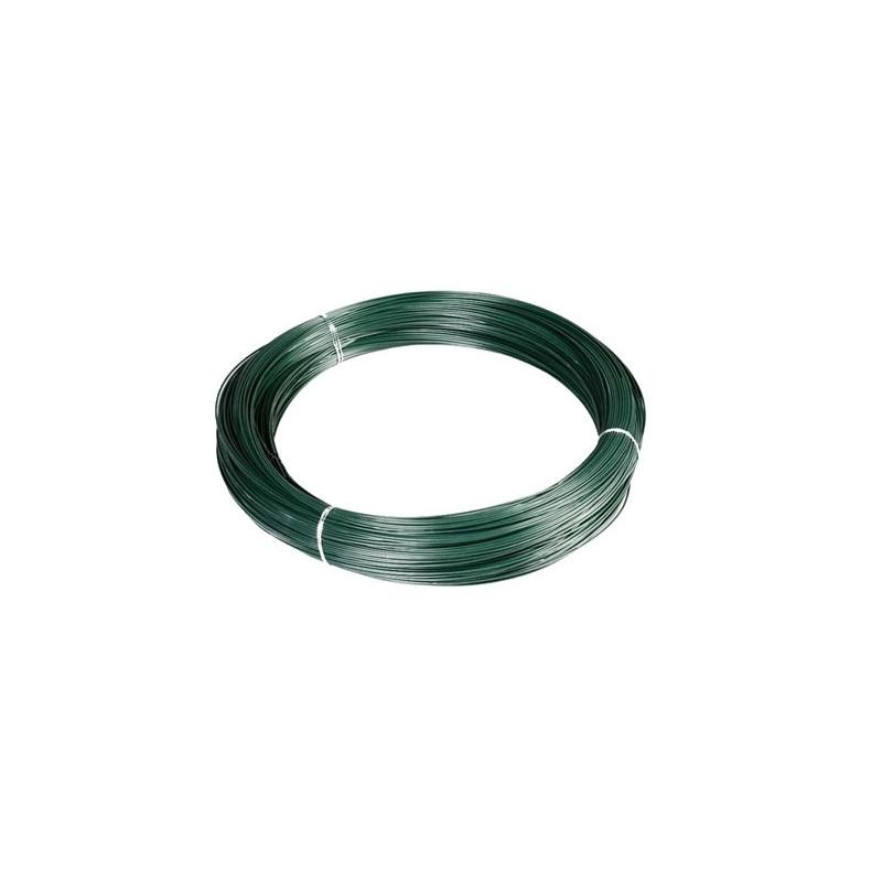 Rollo alambre plastificado verde 2,7x3,9 (25 Kg.)