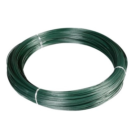 Alambre plastificado verde 2,7x3,9 mm. (Rollo 35 Kg.)