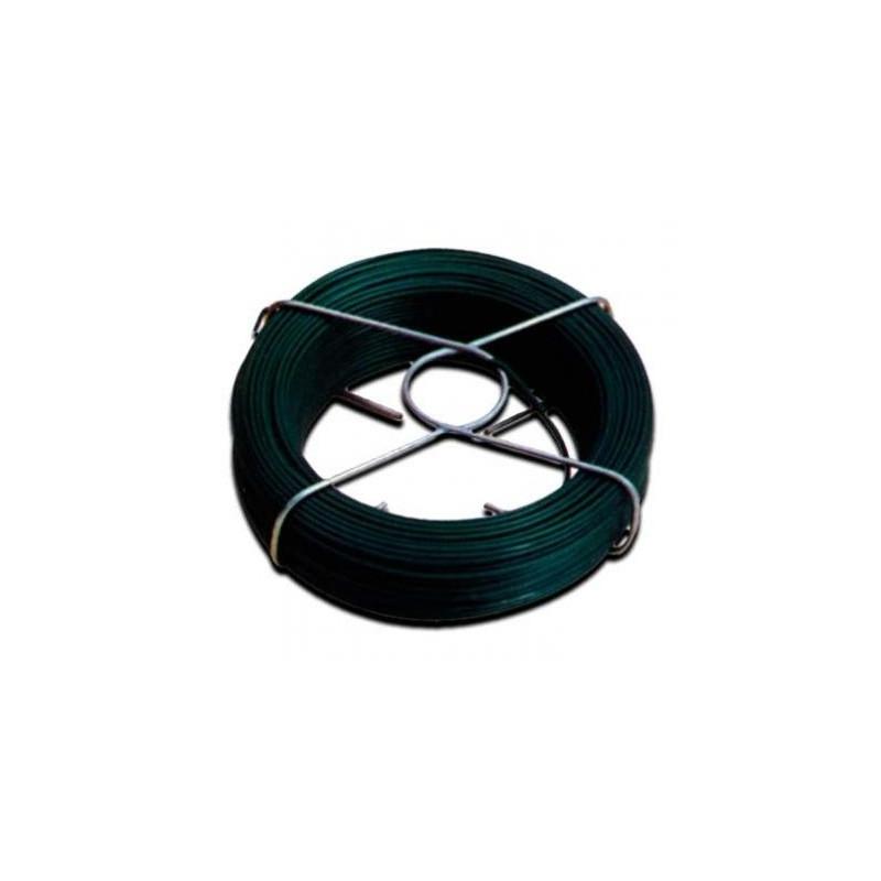 alambre atar plastif verde 1 5 mm rollo 25 mt climabit