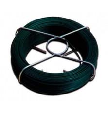 Alambre atar plastif. verde 1,5 mm. (Rollo 50 mt.)