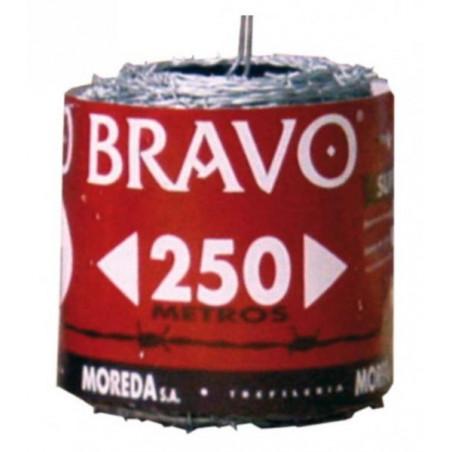 Alambre espino galv. Bravo 13x15 (Rollo 100 mt.)