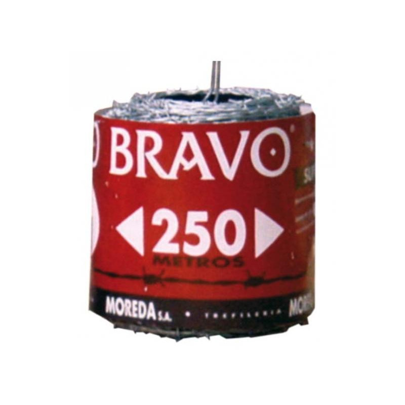 Alambre espino galv. Bravo 13x15 (Rollo 250 mt.)