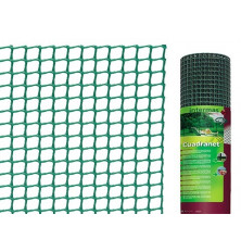 Malla plástica cuadrada Cuadranet 11x11 - Rollo 25 mt.