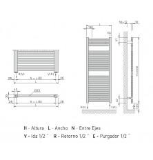 Radiador Toallero Z-T 1200x500