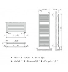Radiador Toallero Z-T 1600x500