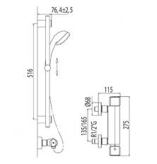 Kit ducha termostático ALP TRES