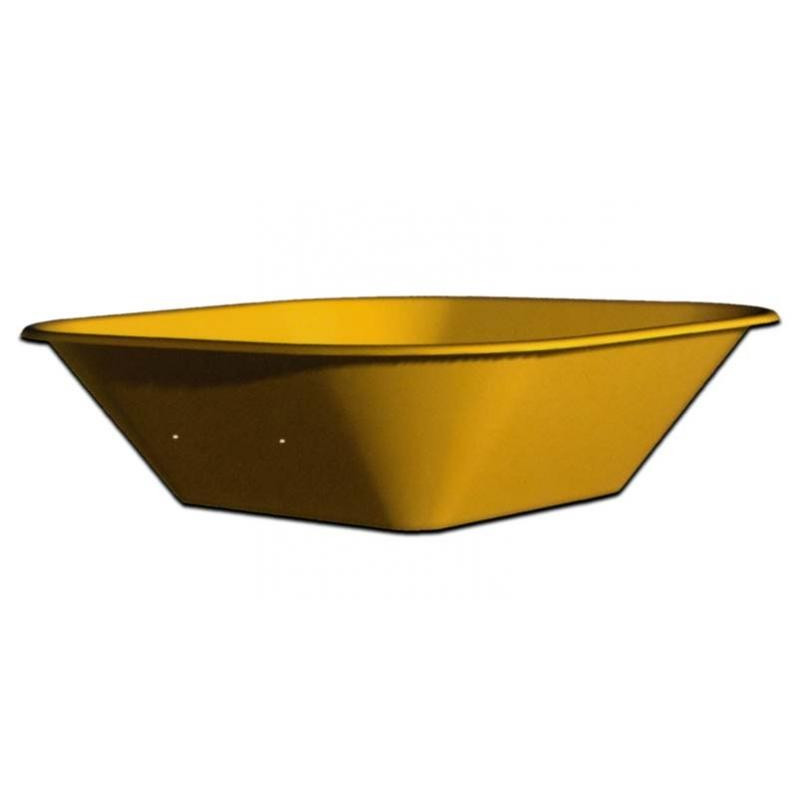 Bandeja Carretillo Amarilla 550x950 mm. 90 L.