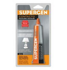 Cola Contacto Supergen Incoloro tubo 40 ML.