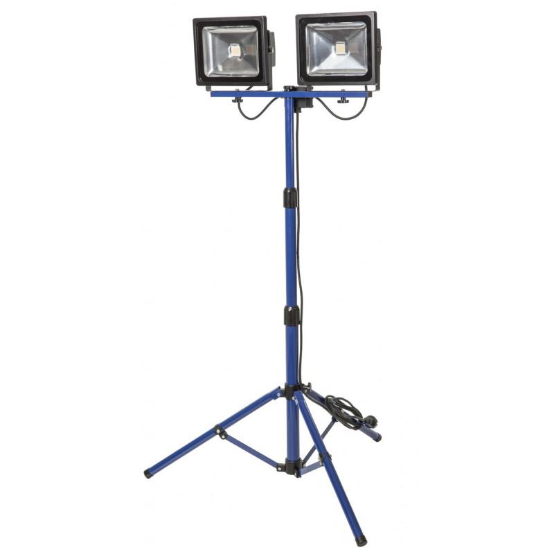 Foco LED 2x30 W - 2x2300 Lúmenes c/Trípode