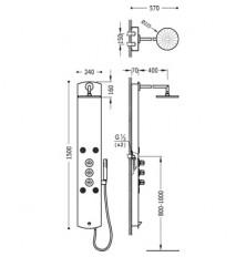 Columna de ducha Termostática LEX-B