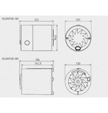 Ventilador helicoidal conducto SILENTUB-200