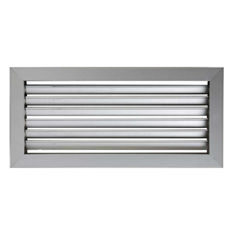 Rejilla Aluminio Simple Deflexión Con Regulación