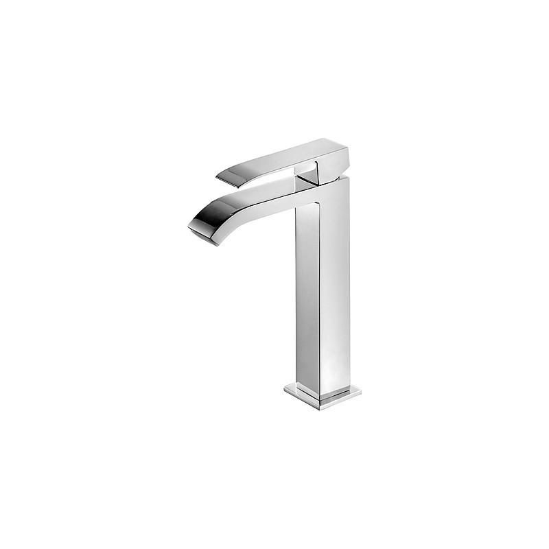 Monomando lavabo Cuadro-Tres con caño cascadaA