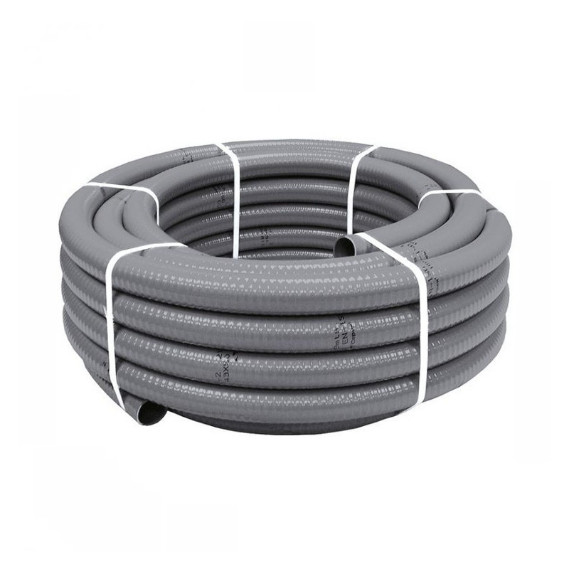 Tubo pvc flexible 26x32 gris for Tubo de pvc flexible