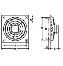 Ventilador Helicoidal Mural HXM-350