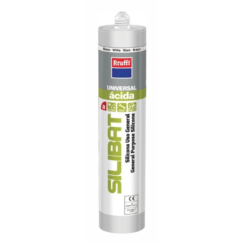 Silicona Ácida Silibat Translúcida 280 ml.