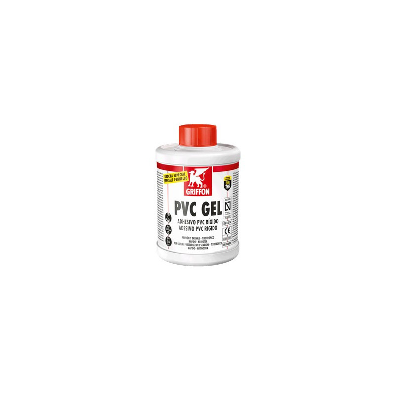 Adhesivo PVC Rígido GRIFFON PVC GEL 1 L.