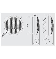 Ventilador Helicoidal Mural HCM-180 N
