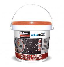 Silicona Líquida Aquablock SL3000 Teja 1 Kg.