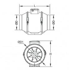 Ventilador centrífugo conducto MU-TT 150