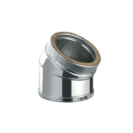 Codo 30º Inox/Inox Doble Pared 316L
