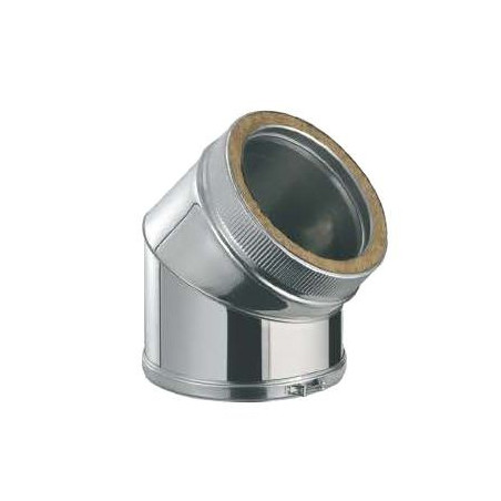 Codo 45º Inox/Inox Doble Pared 316L