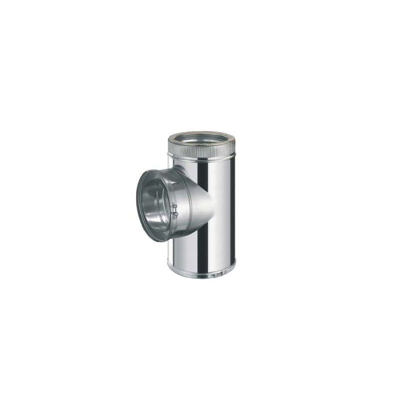 Te 90º Inox/Inox Doble Pared c/purga 316L