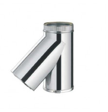 Te 45º Inox/Inox Doble Pared c/purga 316L