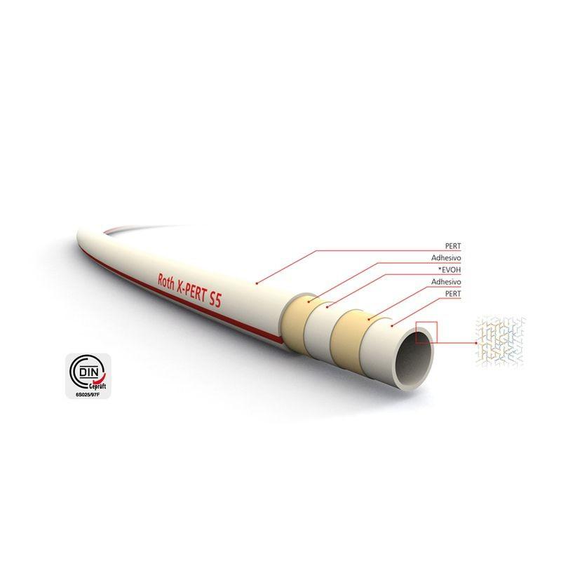 Tubo ROTH X-PERT S5 con Barrera Antioxígeno 16x2 - Rollo 200 mt.