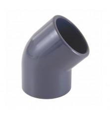 Codo PVC-U 45º Hembra Encolar