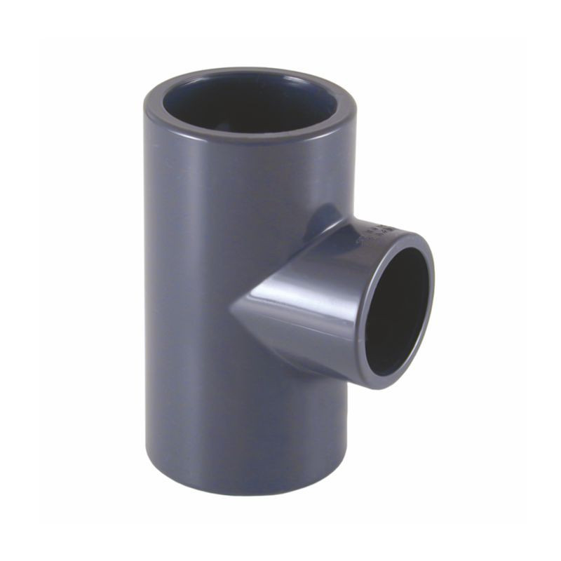 Te PVC-U 90º Hembra Encolar Reducida