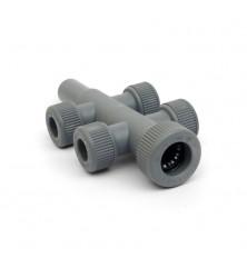 Colector Polibutileno M-H 22-(4x15)-22