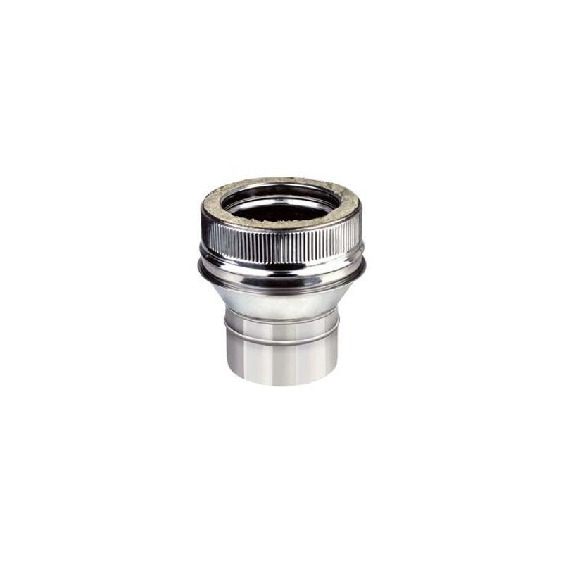 Adaptador tubo Inox Simple 120M a Doble Pared 125
