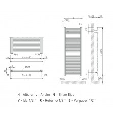 Toallero Eléctrico Z-T 1200x550 EHNSI