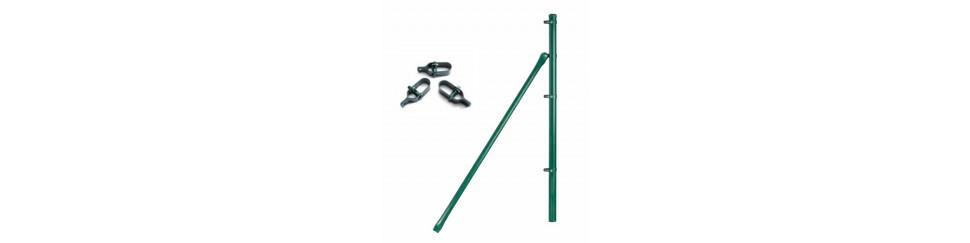 Complementos y accesorios para la instalación de enrejados y mallas