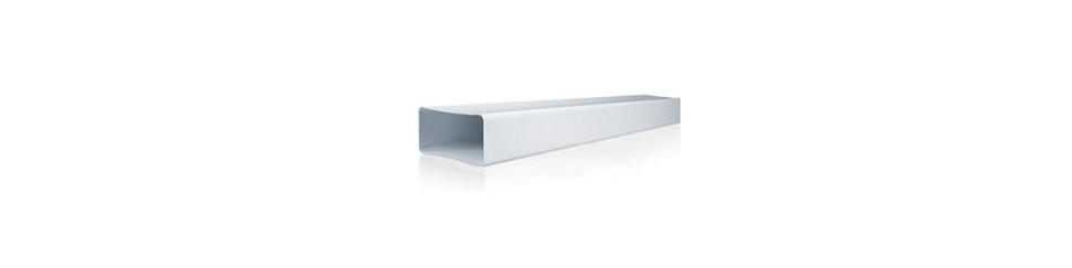Conducto rectangular rígido de 110x55 mm.