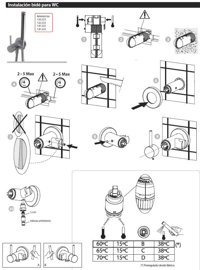 Instalacion bid para wc climabit for Wc sin instalacion